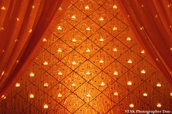 Indian wedding reception backdrop and decor ideas.