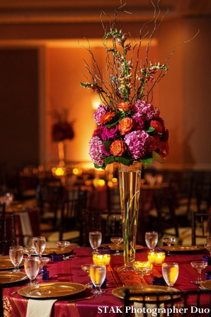Floral centerpiece ideas for indian wedding reception.