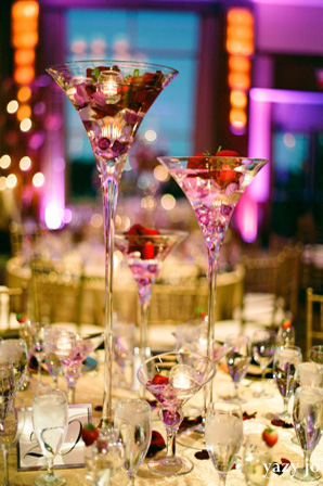Indian wedding reception floral and decor setting