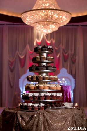 Indian wedding cake cupcake tower
