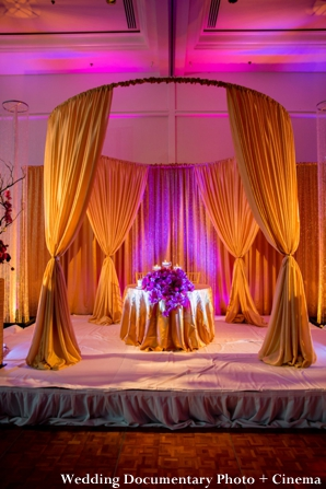 Indian wedding reception sweetheart table