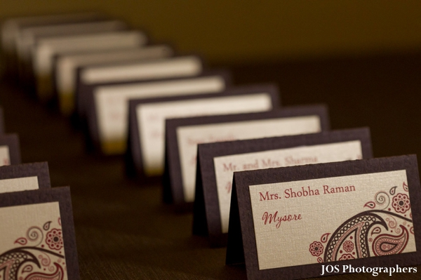 Indian wedding design ideas for guest place cards.