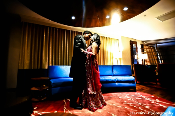 Indian wedding photography of indian bride and groom at reception