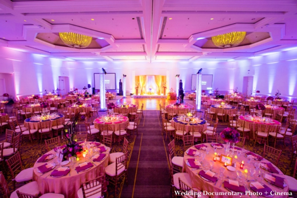 Indian wedding reception lighting and setup ideas.