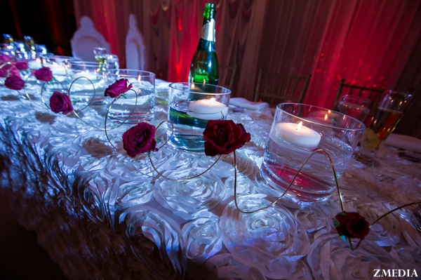 sweetheart table at indian wedding reception