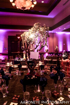 floral and decor ideas for indian wedding reception in purple
