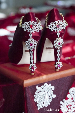 Indian wedding bridal shoes by badgley mischka