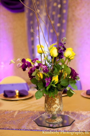 Floral centerpieces for Indian wedding reception or engagement party