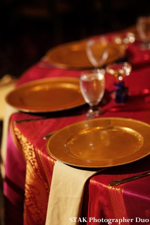 indian wedding reception table setting decor and ideas.