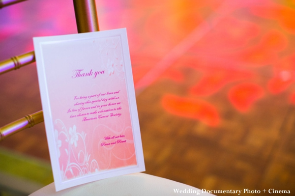 Indian wedding thank you notes for reception guests
