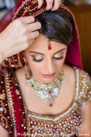 Indian bridal hair and makeup ideas for indian wedding.