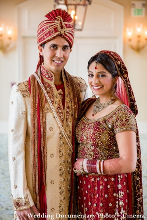 Indian bride and groom indian wedding portrait