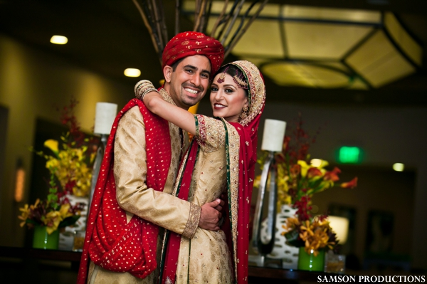 Pakistani bride and groom portrait at Pakistani wedding