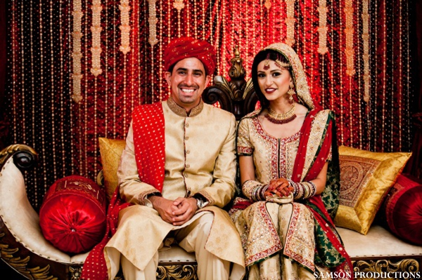 Pakistani bride and groom portrait at Pakistani wedding