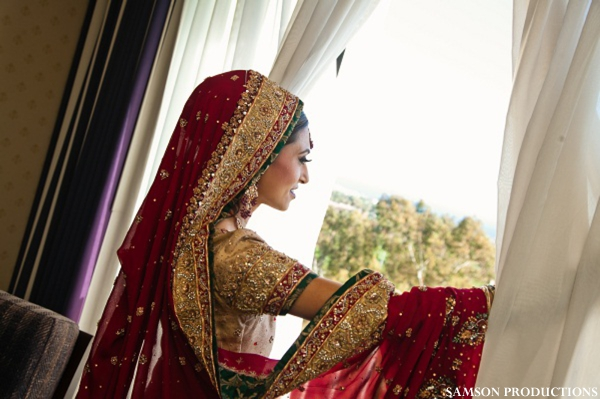 Pakistani bride in her traditional wedding outfit