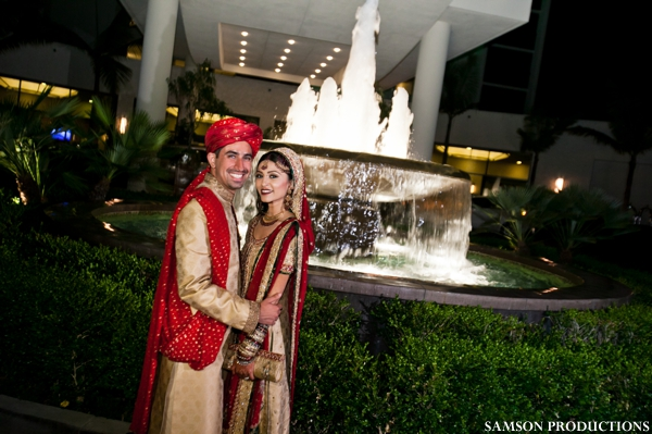 Pakistani bride and groom portrait