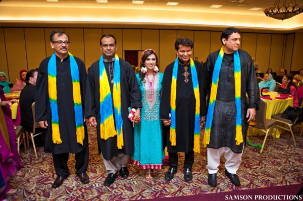 Pakistani bride at sangeet