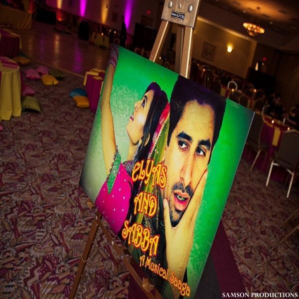 pakistani wedding sangeet poster ideas