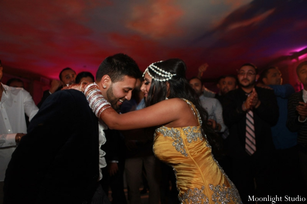 indian-wedding-reception-bride-groom-dancing-dance-floor
