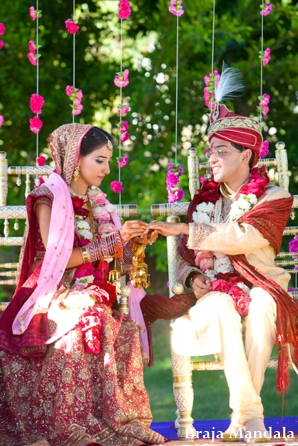 indian-wedding-bride-groom-under-mandap