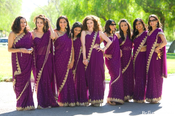 indian-wedding-bridal-party-purple-lengha
