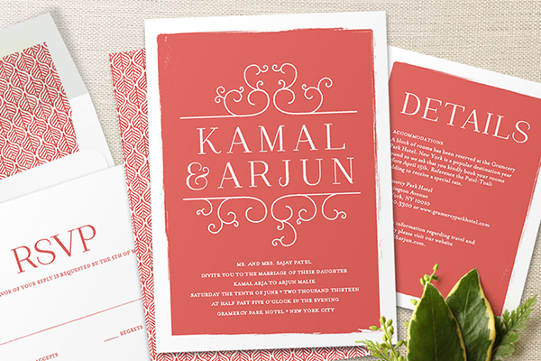 Indian Wedding Minted Stationary 11